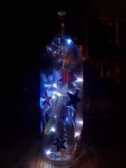 Lighted Stars Bottle