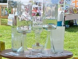 Large glass/candle holder