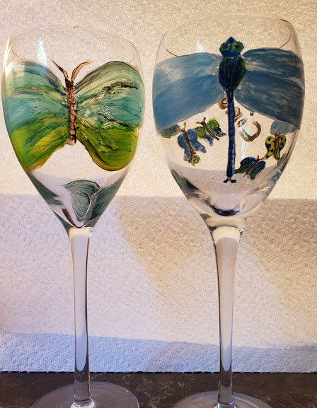 Handed Painted/CUSTOMIZED wine glasses  *These are EXAMPLES*