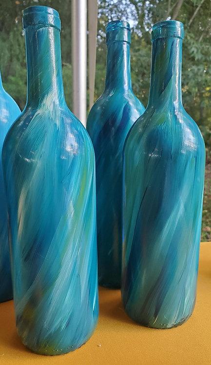 Multicolored bottles