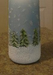 Hand Painted Winter Scene