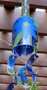 Blue Flower Wind Chime - long