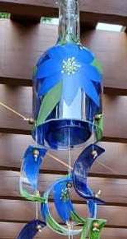windchimes blue long