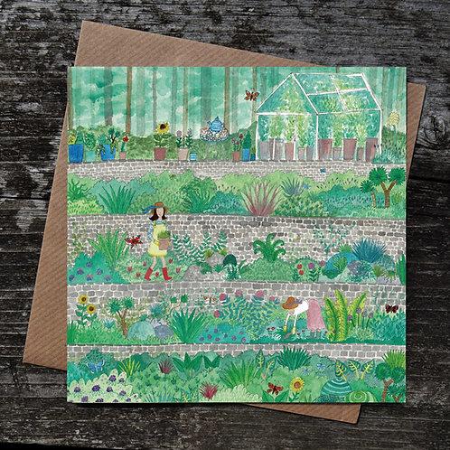 Terrace Garden Greeting Card