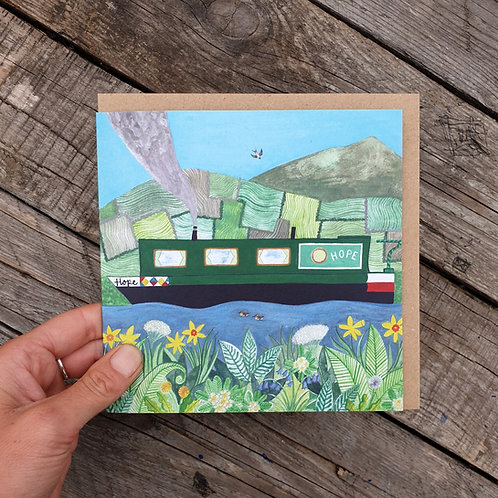 Canal in Spring Greeting Card