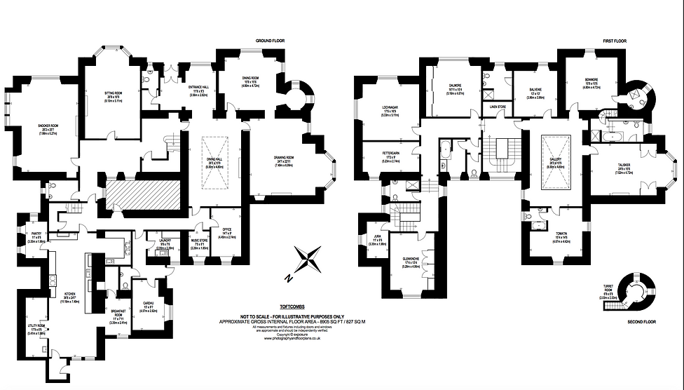 Toftcombs Floor plan exclusive use