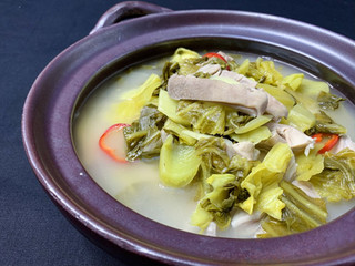 Pickled Green, Pepper and Pork Stomach S