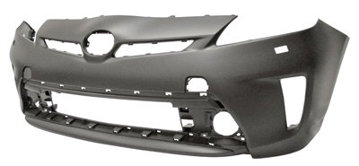 Toyota Prius 2009-2015 HatchbackFront Bumper Primed With Headlight Wash