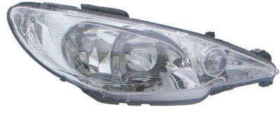 Peugeot 206 1998- HatchbackHeadlight Clear Lens Right Hand High Line