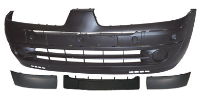 Renault Clio Mk Ii 1998-2005 HatchbackFront Bumper With Moulding + No Plate Hole
