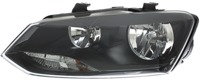 Vw Polo 2009-2017 Hatchback Headlight Polo 14> Black Oem/oes Right Hand