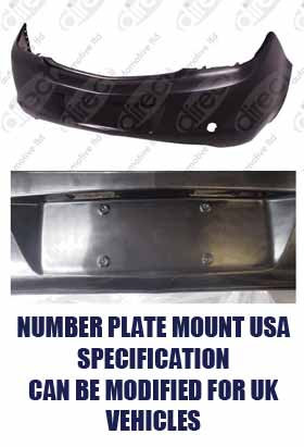 Vauxhall Insignia Mk I (a) 2008-2017 HatchbackRear Bumper Primed With Pdc