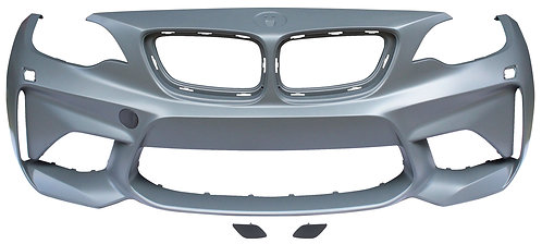 Bmw 2 Series F22 2012- CoupeFront Bumper Primed W/h/l Washer Holes M2 Model