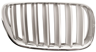 Bmw X3 E83 2003-2010 Mpv Front Grille Chrome With Silver Slats Right Hand