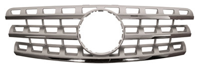Mercedes-benz M-class 2005-2011 Mpv Front Grille Silver With Chrome Moulding