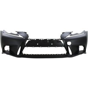 Lexus Is Iii 2013- SaloonFront Bumper Primed With Washers Sports Model