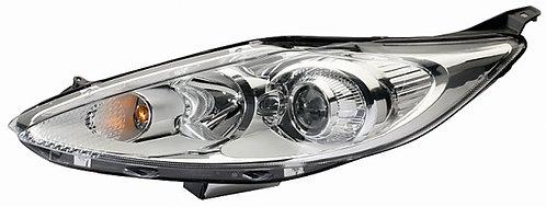 Ford Fiesta Mk Vi 2008-2017 Hatchback Headlight Elec Proj W/mtr Left Hand Chrome