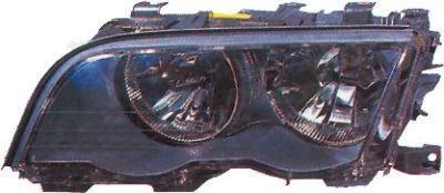 Bmw 3 Series E46 1998-2005 SaloonHeadlight 4 Door Black Left Hand W/motor