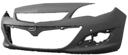 Opel Astra J 2009- HatchbackFront Bumper Primed With Pdc With Park Assist