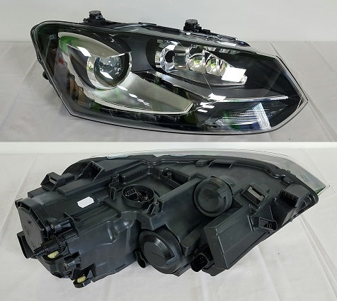 Vw Polo 2009-2017 Hatchback Headlight Bi-function Xenon Right Hand