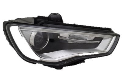 Audi A3 2013- Hatchback Headlight Xenon Chrome With Motor Right Hand