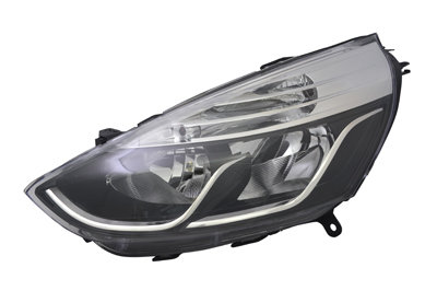 Renault Clio Iii 2005-2009 HatchbackHeadlight Black / Chrome Left Hand