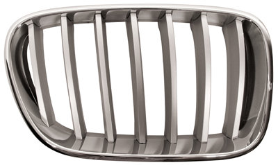 Bmw X3 F25 2010-2017 Mpv Front Grille Chrome With Silver Slats Right Hand