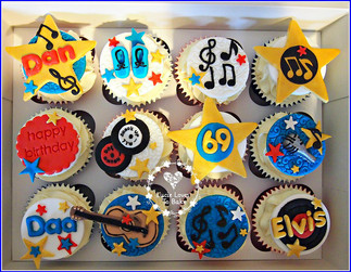 Elvis Birthday Cupcakes