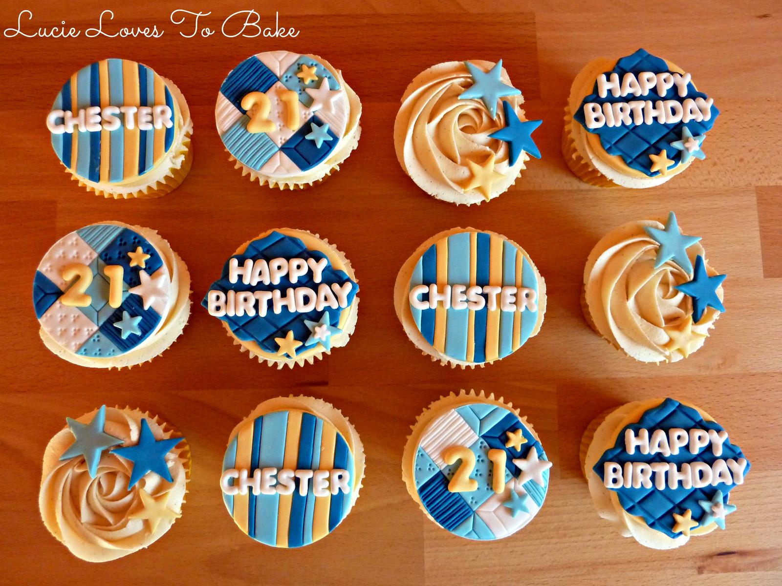 Male 21st Birthday Cupcakes