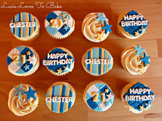 Male 21st Birthday Cupcakes