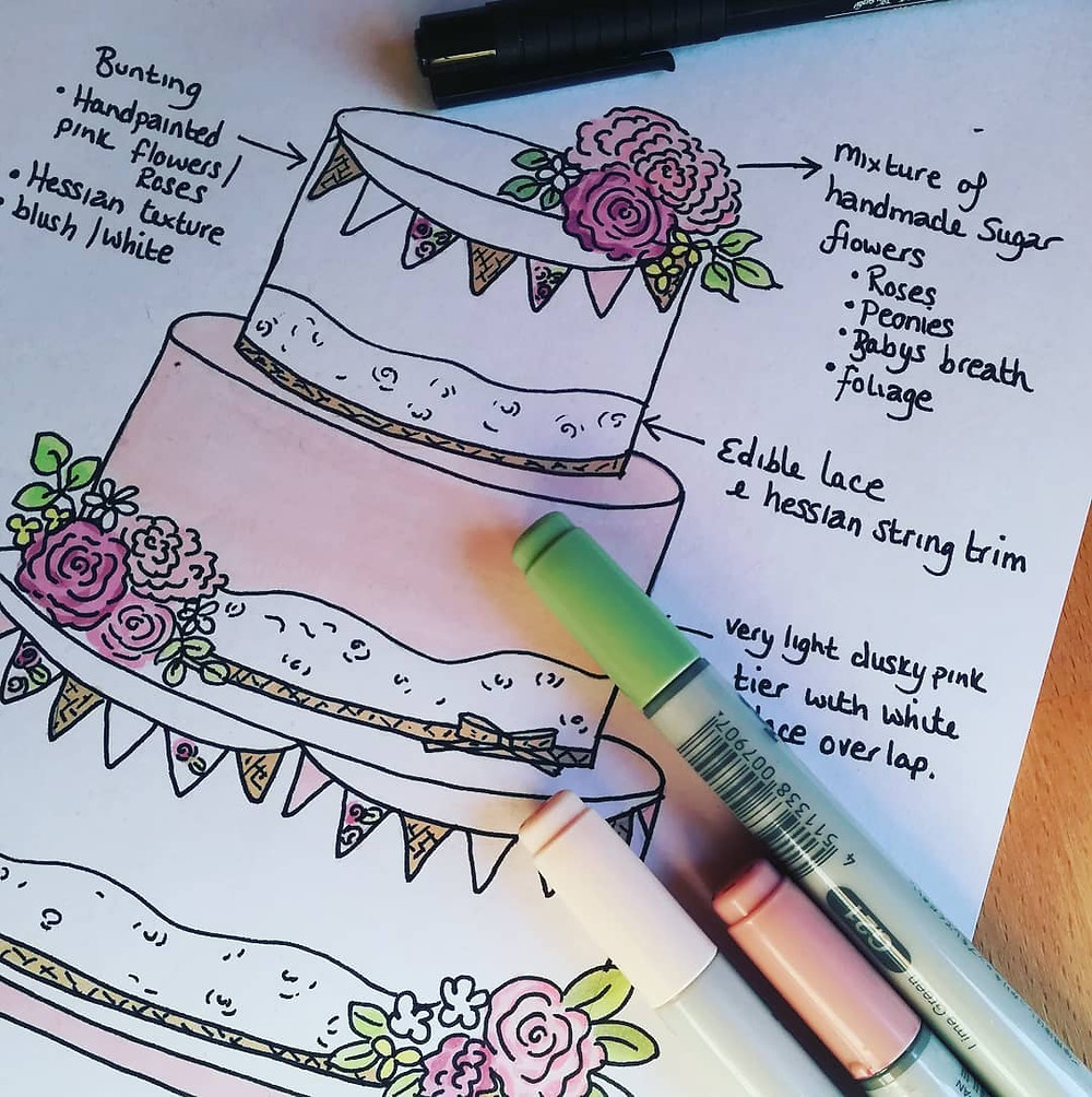 Wedding Cake Design Sketch