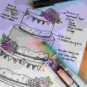 Wedding Cake Design Sketch
