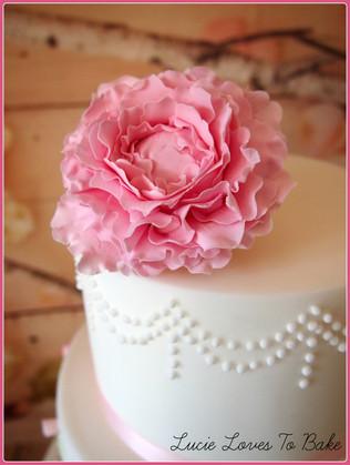 Simple Pink Birthday Cake