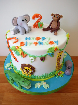 Zoo Themed Birthday Cake