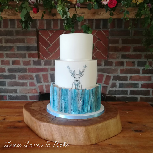 New Forest Burley Stag Wedding Cake