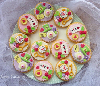 Alice in Wonderland Biscuits Dorset