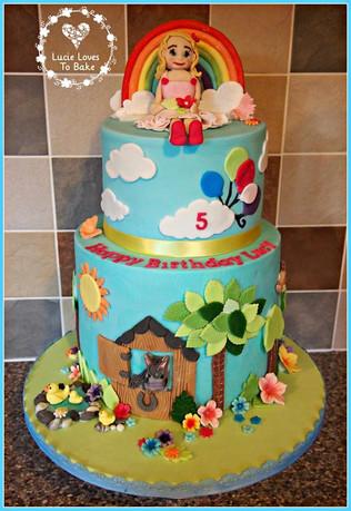 Fun Rainbow Birthday Cake