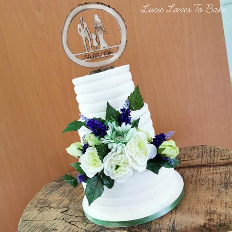 Rustic Buttercream Vegan Wedding Cake
