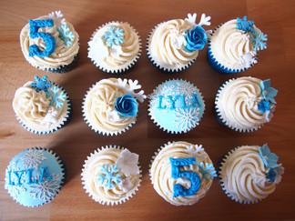 Frozen Inspired Birthday Cupcakes