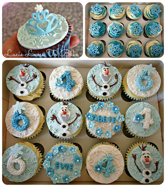 Frozen Inspired Birthday Cupcakes