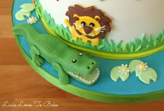 Zoo Themed Birthday Cake