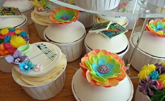 Fun Superhero, Rainbow and Music Cupcakes