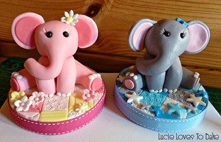 Elephant Cake Toppers