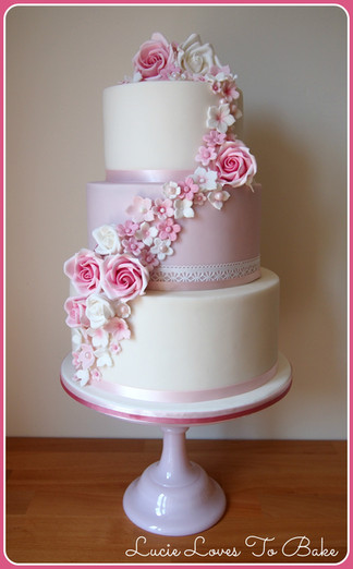 Pink 3 Tier Cake