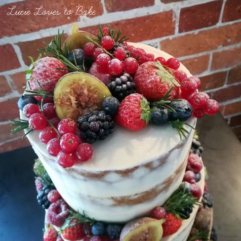 Fresh Fruit Semi Naked Wedding Cake