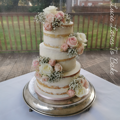 Pretty Pastel Vegan Semi Naked Cake