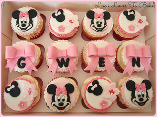 Cute Mini Mouse Birthday Cupcakes