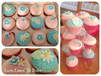 Blue and Pink Vegan Cupcakes