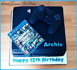 Play Station Birthday Cake