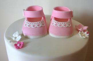 Pink Beautiful Christening Cake